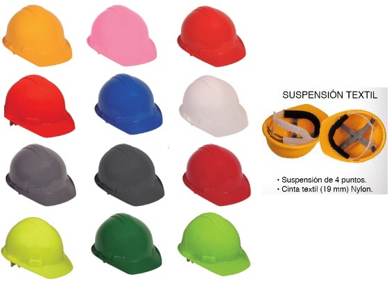 CASCO DE SEGURIDAD CLASE E SUSPENCION TEXTIL